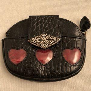 Brighton black coin purse 3 red hearts